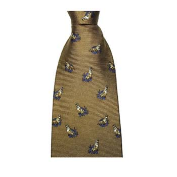 Brown Grouse Patterned Tie