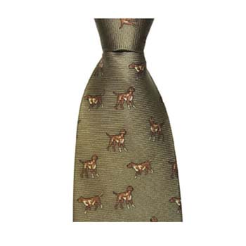 Dark Green Gun Dog Tie