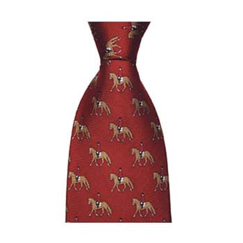 Red Equestrian Horse Tie