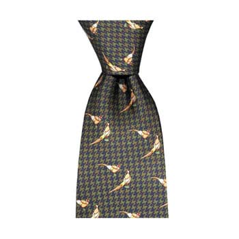 Brown Tweed Pheasant Tie