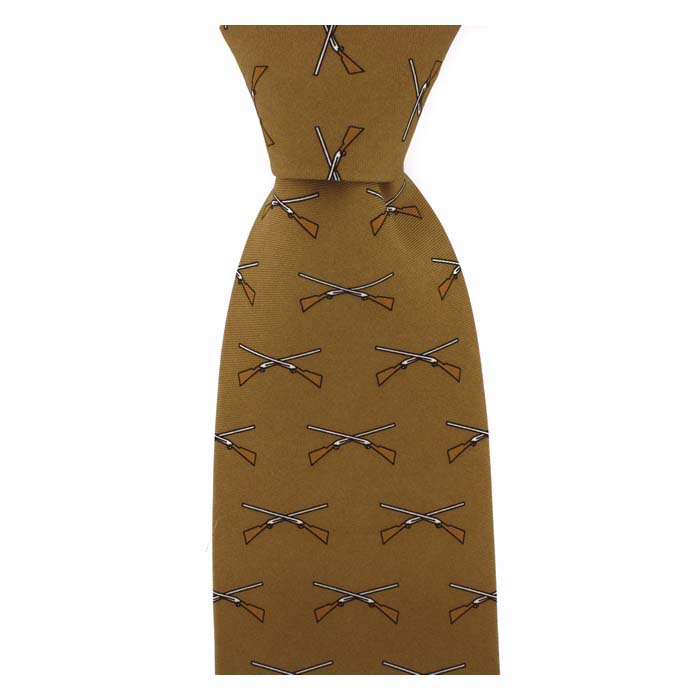 Brown Crossed ShotgunPatterned Tie