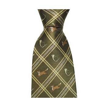 Green Fox And Horn Tie