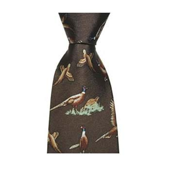 Brown Pheasants Tie