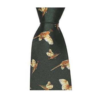 Green Pheasants Simple Tie