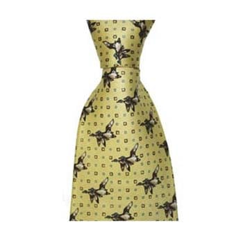 Yellow Flying Ducks Tie