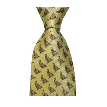 Yellow Grouse Patterned Tie