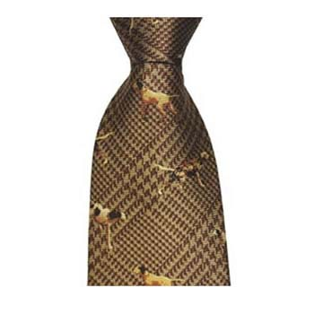 Brown Pointer Patterned Tie