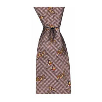 Wine Tweed Pheasants Tie