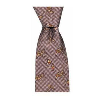 Wine Tweed Pheasants Tie