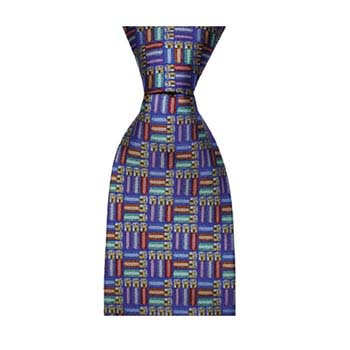 Blue Shotgun Shells Tie