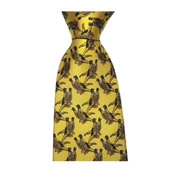 Yellow Pheasants Tie
