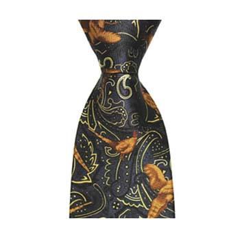 Navy Paisley Pheasant Tie