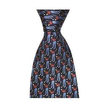 Navy Blue Golfer Tie