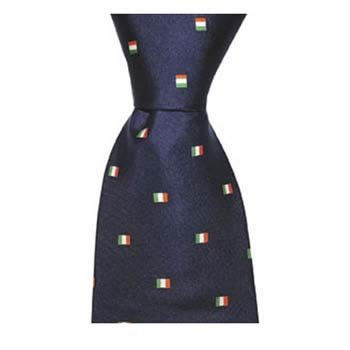 Navy Blue Irish Flag Tie