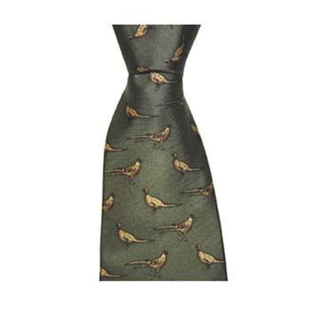 Green Pheasant Style Tie
