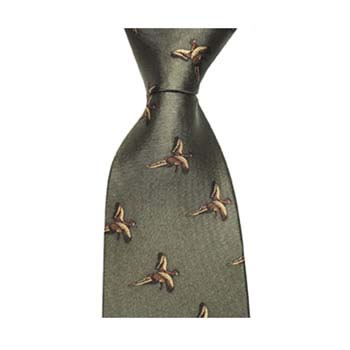 Dark Green Flying Pheasant Tie