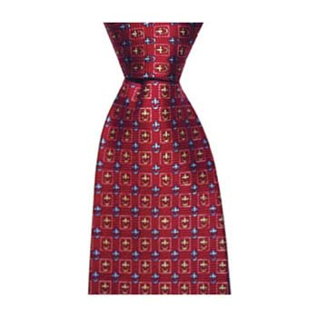 Red Yellow And Blue Chain Tie