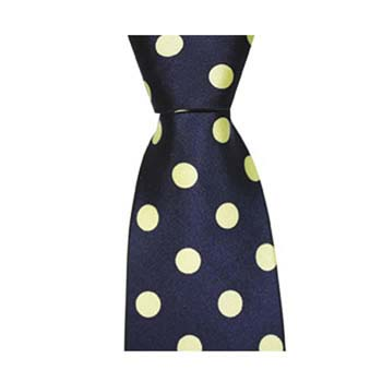Navy Blue And Green Large Polka Dot Tie