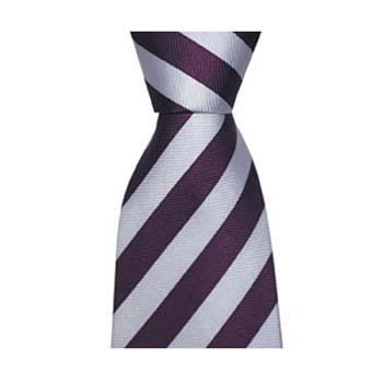 Grey And Purple Stripe Tie