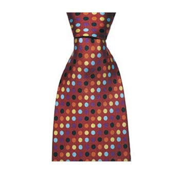 Multi Coloured Small Polka Dotted Tie