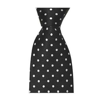 Black And White Small Polka Dot Tie