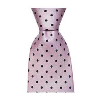 Lilac And Black Small Polka Dot Tie