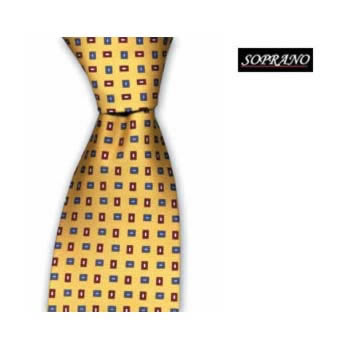 Yellow Blue And Red Small Squares Tie