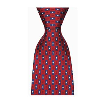 Red And Blue Rectangle Shape Tie