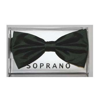 Dark Green Solid Colour Tied Bow Tie