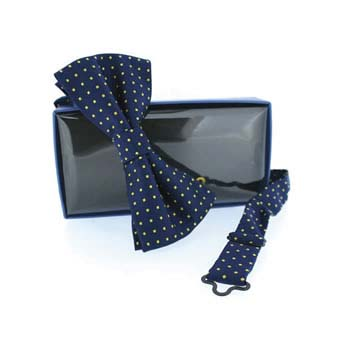 Navy And White Navy And Blue Small Polka Dot Pre Tied Bow Tie