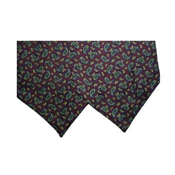 Wine Small Paisley Silk Cravat