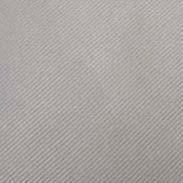 Silver Plain Tie Cufflinks And Hanky Set