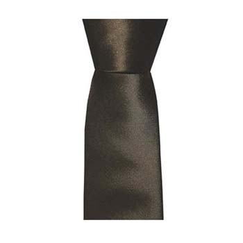 Coffee Solid Colour Tie