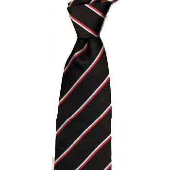 Red White And Black Striped Tie