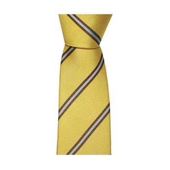Yellow And Burgundy Thin Stripe Tie