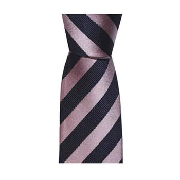 Black And Metallic Pink Thin Stripe Tie