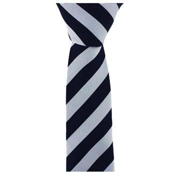 Black And Silver Stripe Tie