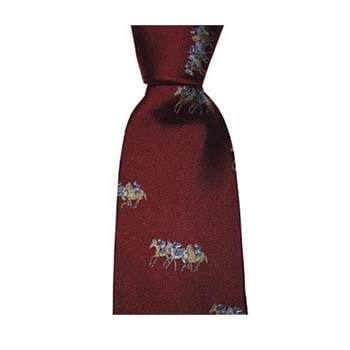 Red Racing Pattern Tie