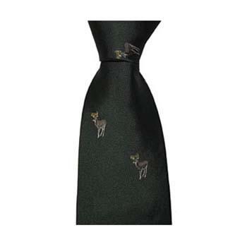 Green Reindeer Tie
