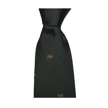 Green Wild Boar Patterned Tie