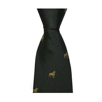 Green Gun Dog Patterned Tie