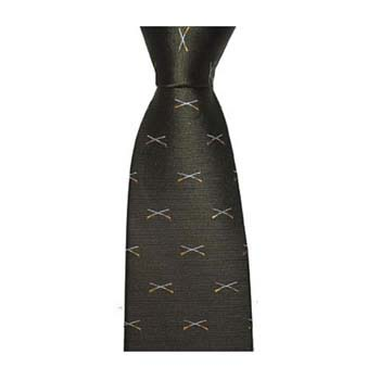 Green Crossed Shotguns Tie