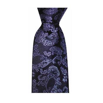 Navy And Light Blue Leafy Paisley Tie