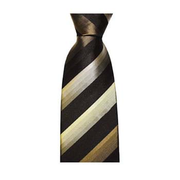 Navy Blue And Taupe Faded Stripe Tie