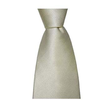 Ivory Diagonal Ribbed Tonic Tie