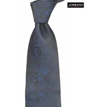 Navy Rose Tie