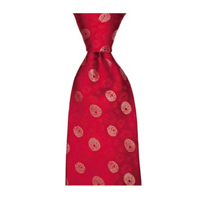 Red Irregular Spot Tie