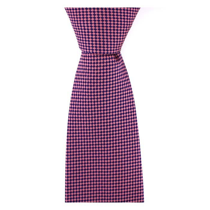 Pink And Purple Small Diamond Tie