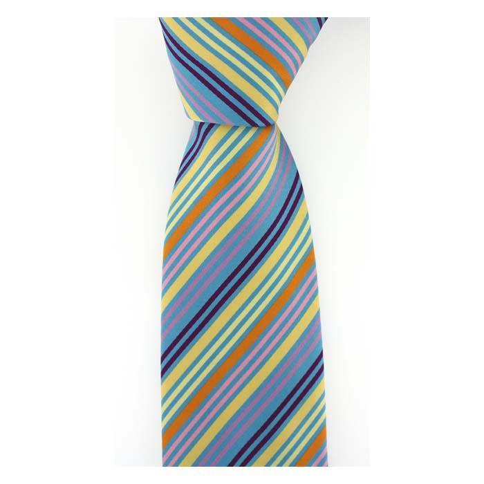 Multi Colour Thin Stripe Tie