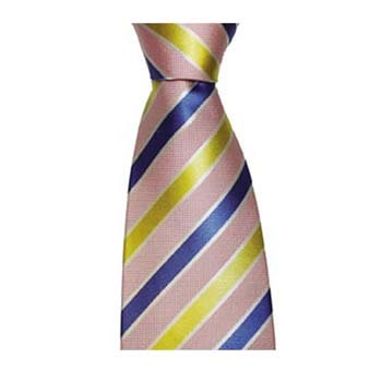 Pink And Yellow Stripe Tie